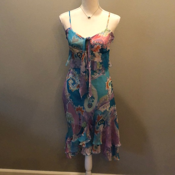69e521a027 cacharel Dresses | Cacherel Silk Midi Dress Size 4 | Poshmark